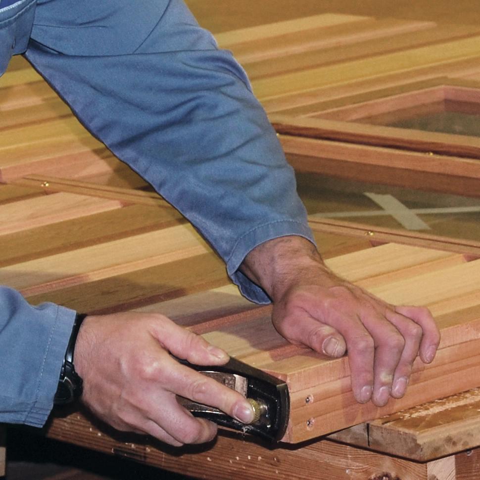 Serre de jardin en bois - Travail artisanal